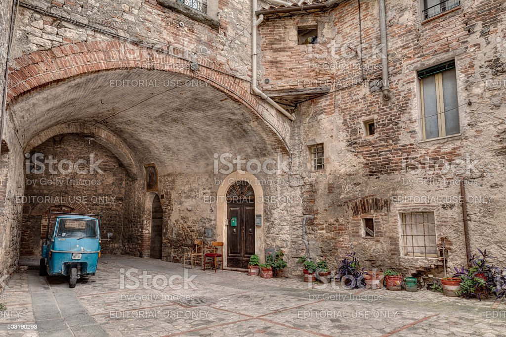 old italian alley - foto stock