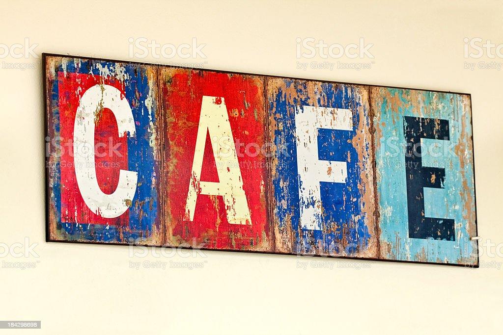 Old Italian Cafe Sign XXXL royalty-free stock photo