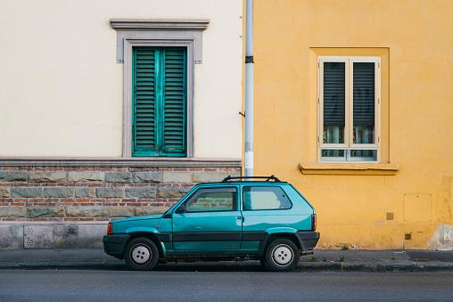 Old italian car at street