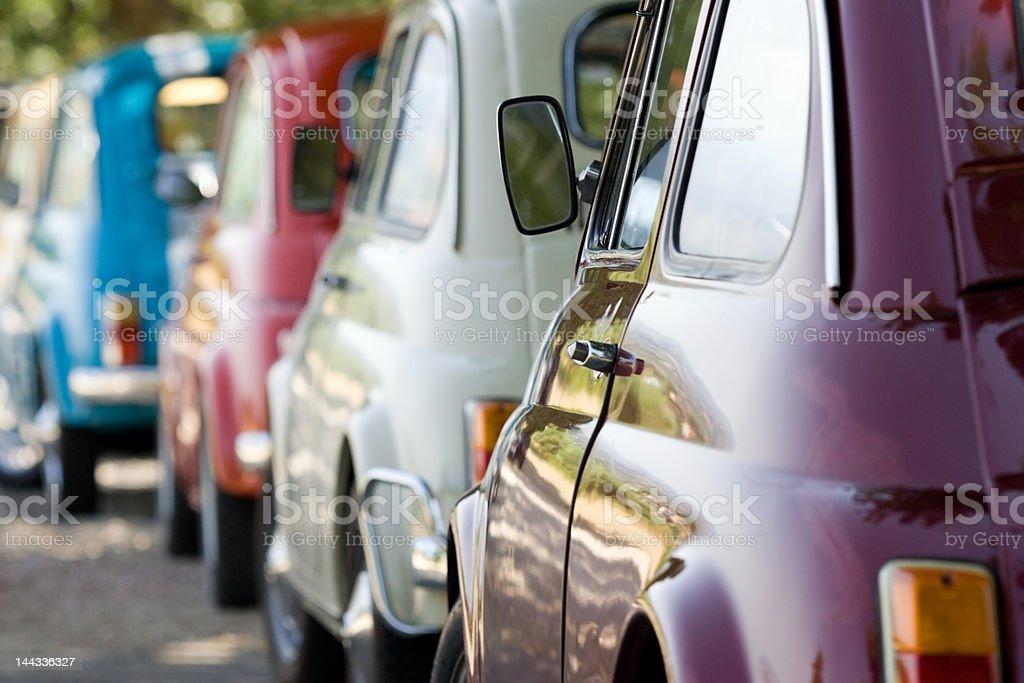 Old italian cars stock photo
