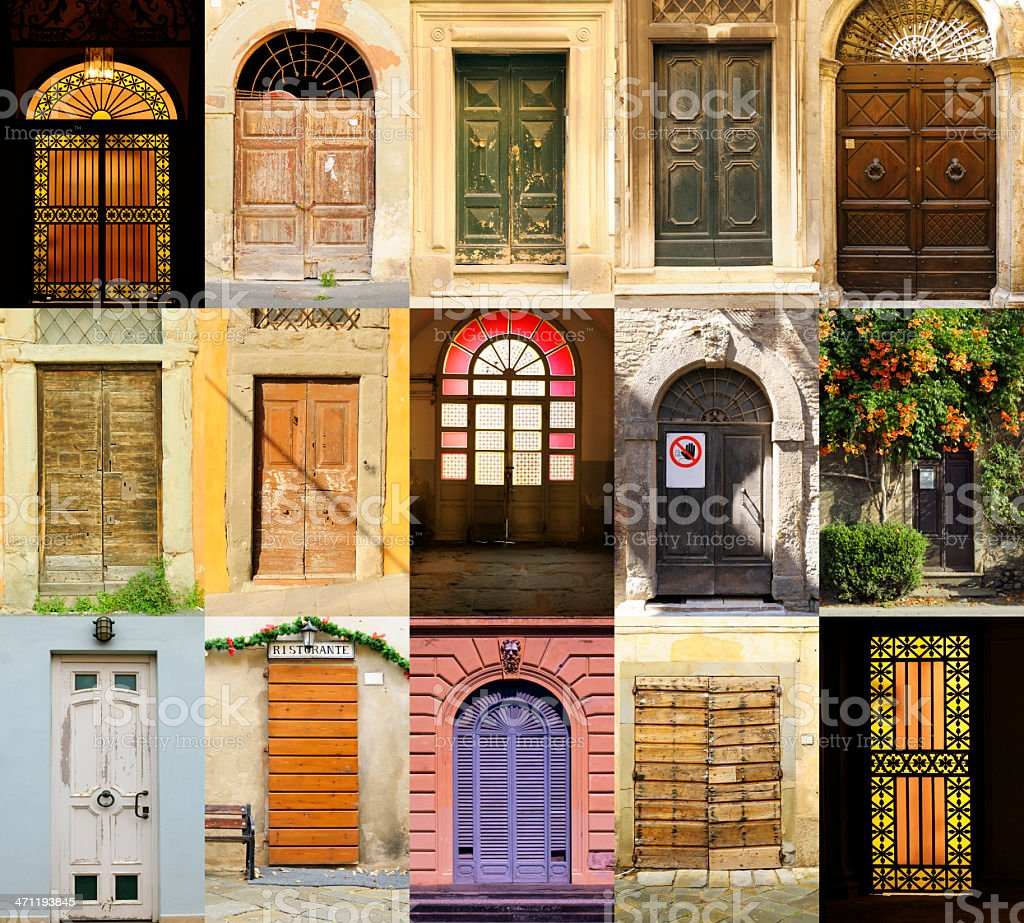 Old Italian Doors Collection royalty-free stock photo & Old Italian Doors Collection Stock Photo \u0026 More Pictures of ...