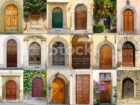 istock Old Italian Doors Collection,Chianti Region 157476490