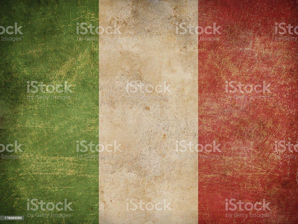 old italian flag stock photo