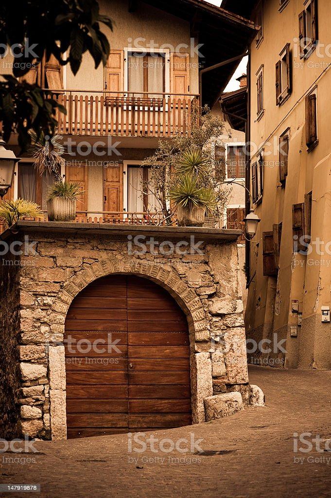 Old Italian house on quiet street royalty-free stock photo