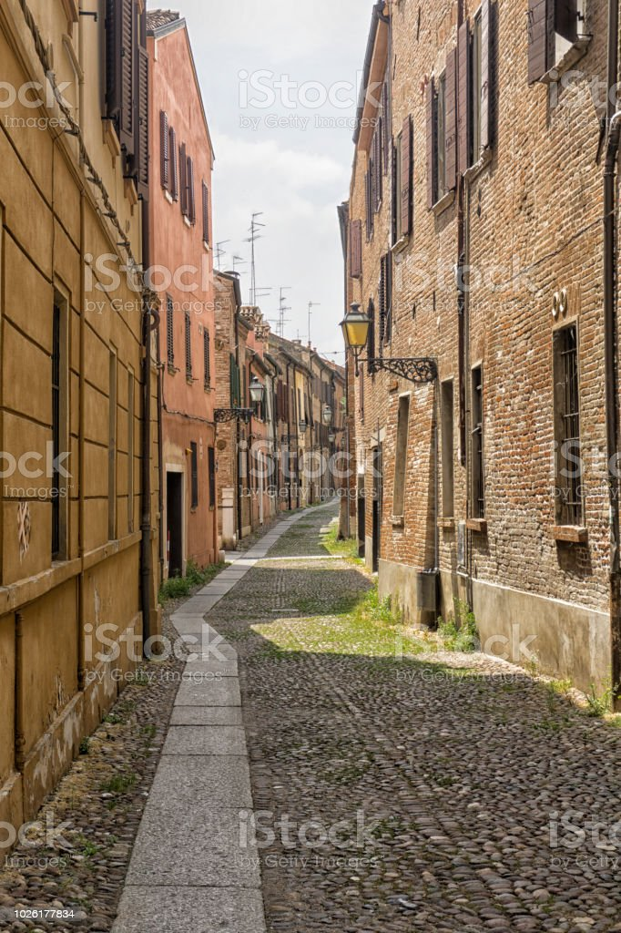 Old Italian street stock photo