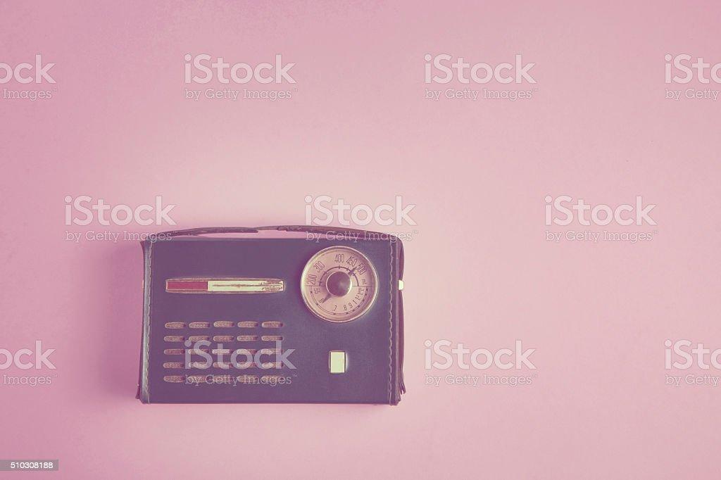 Old italian style vintage radio stock photo