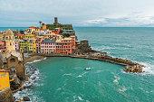 istock Old Italian village of Vernazza, on the Cinque Terre coast of Italy, Liguria 1211851088