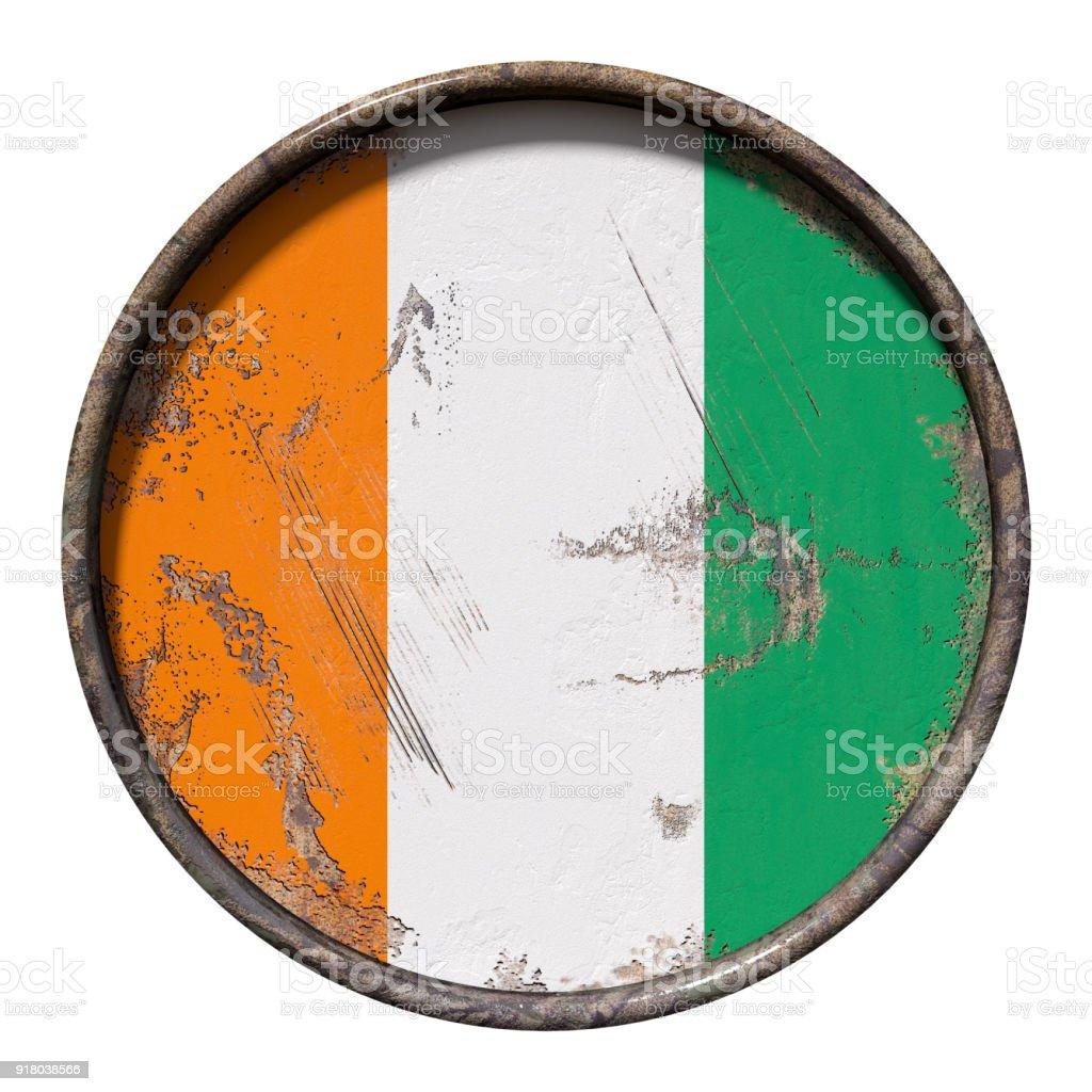 Old Ivory Coast flag stock photo