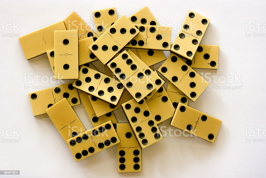 Old Ivory Dominoes royalty-free stock photo