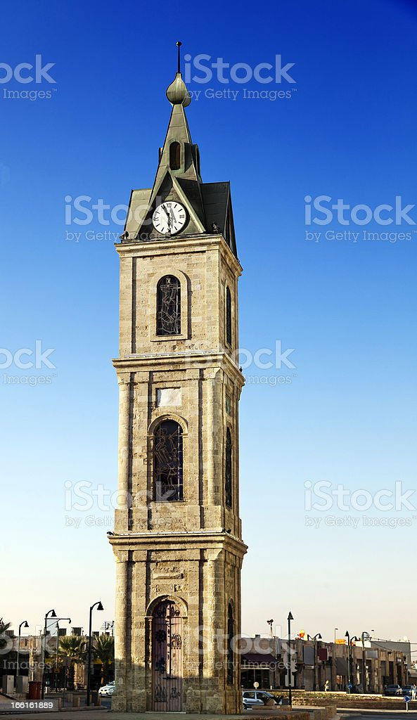 Old Jaffa Clock Tower stock photo