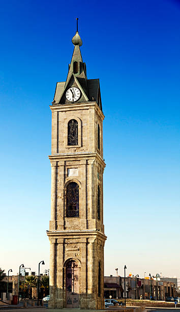 Old Jaffa Clock Tower stock photo