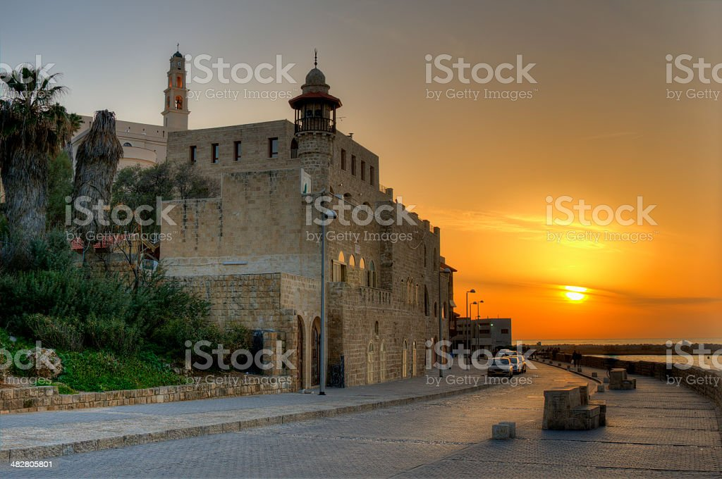 Old Jaffa in Tel Aviv, Israel stock photo