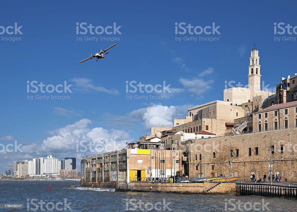 Old Jaffa port. Israel. stock photo