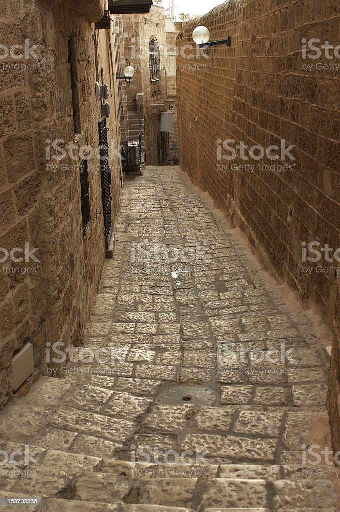 Old Jaffa street, Israel royalty-free stock photo