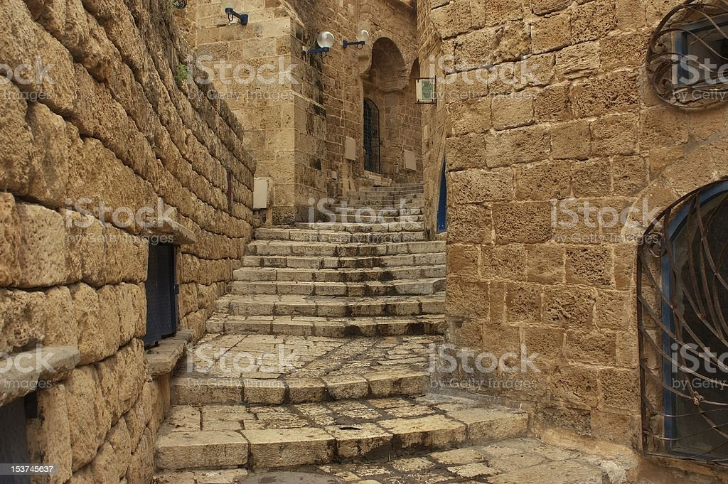 Old Jaffa street, Israel stock photo
