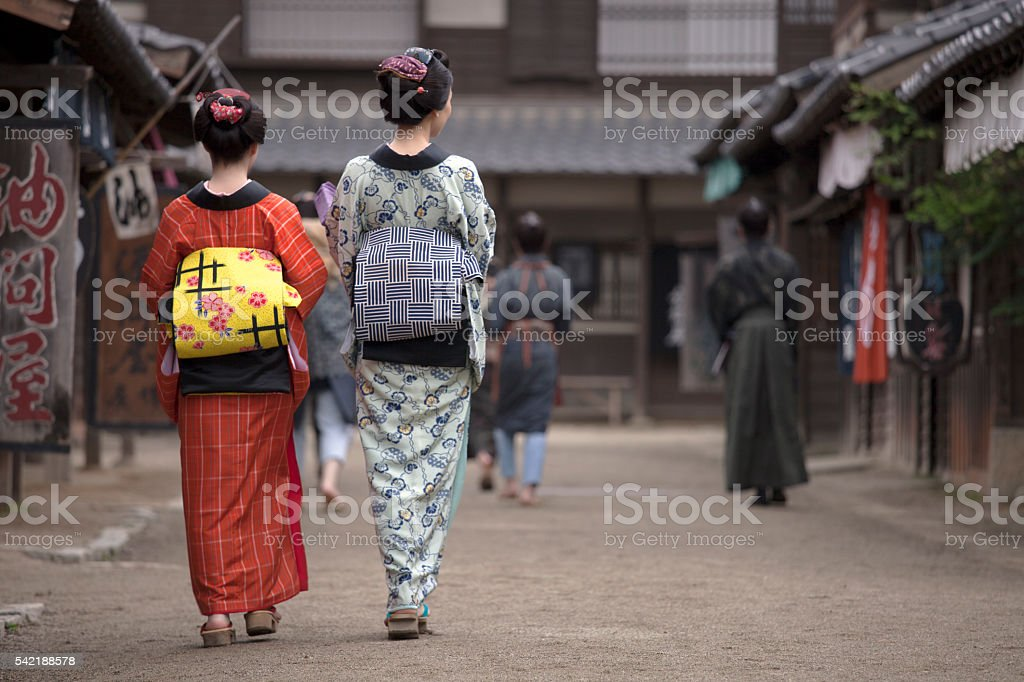 Old Japan stock photo