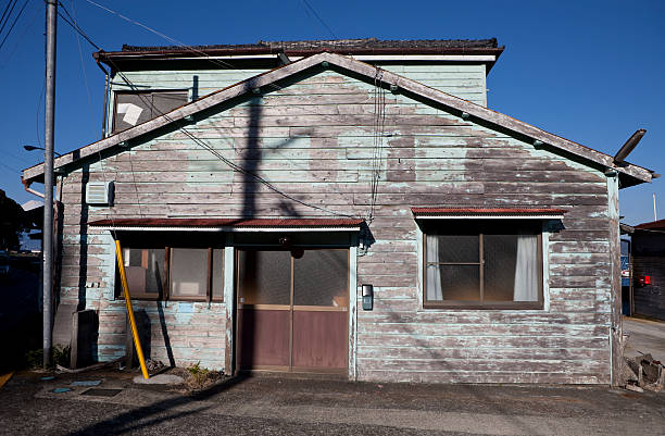 Old Japanese building stock photo