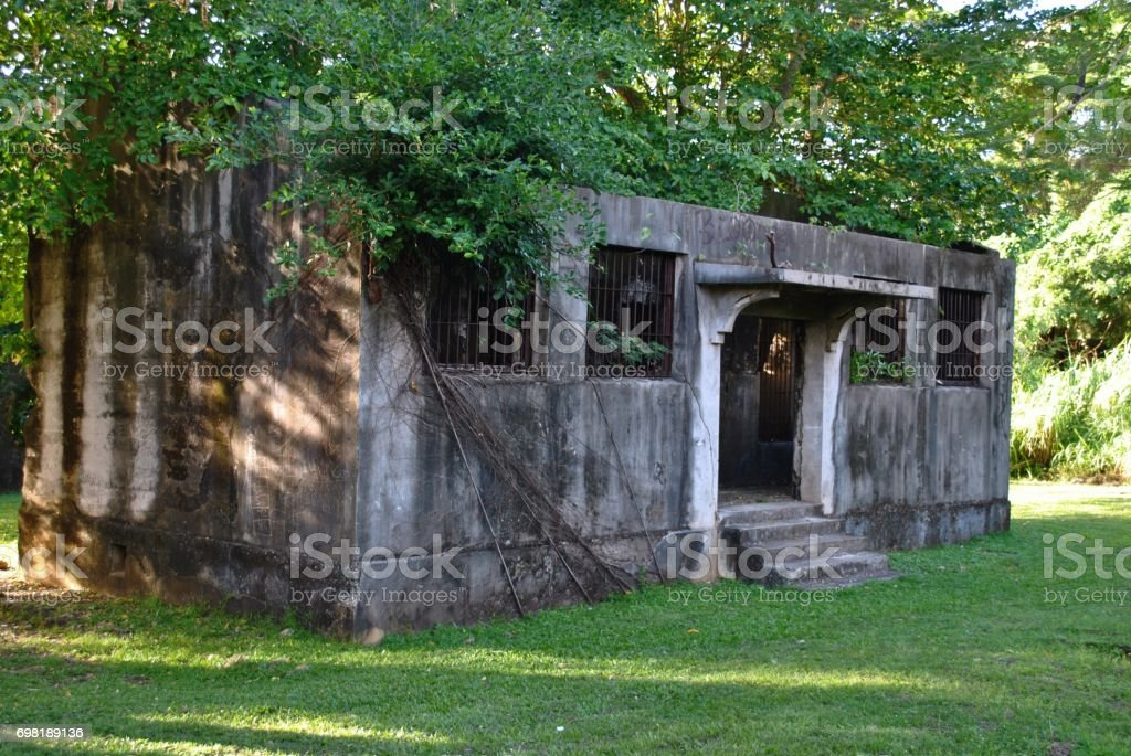 Old Japanese Jail building, Saipan stock photo