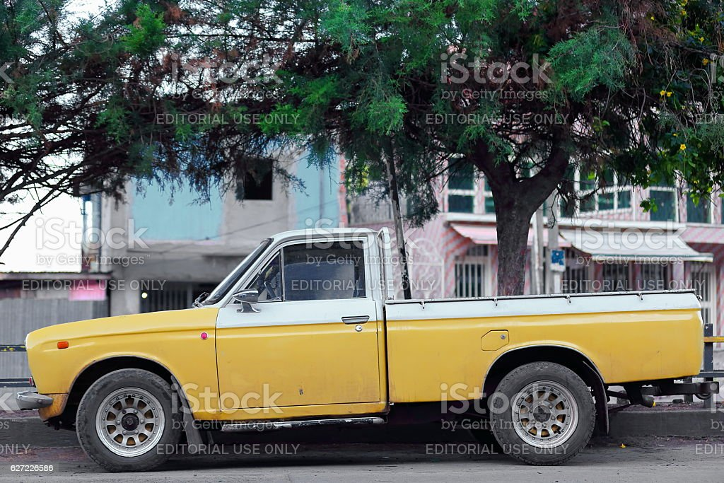 Old Japanese Pickup Truck Kombolchaethiopia 0506 Stock Photo & More ...