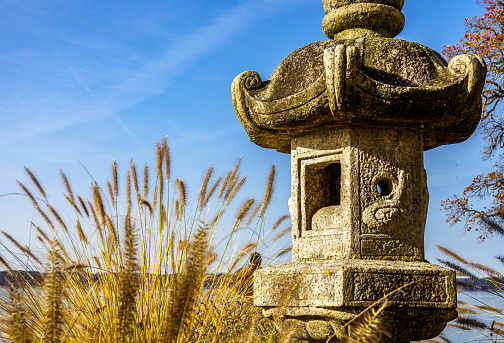 old japanese shrine at a garden - photo