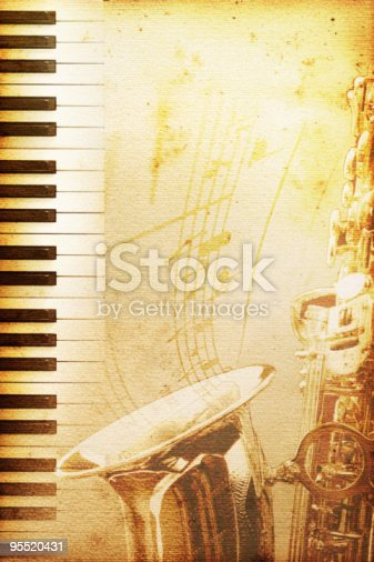 istock old jazz paper 95520431