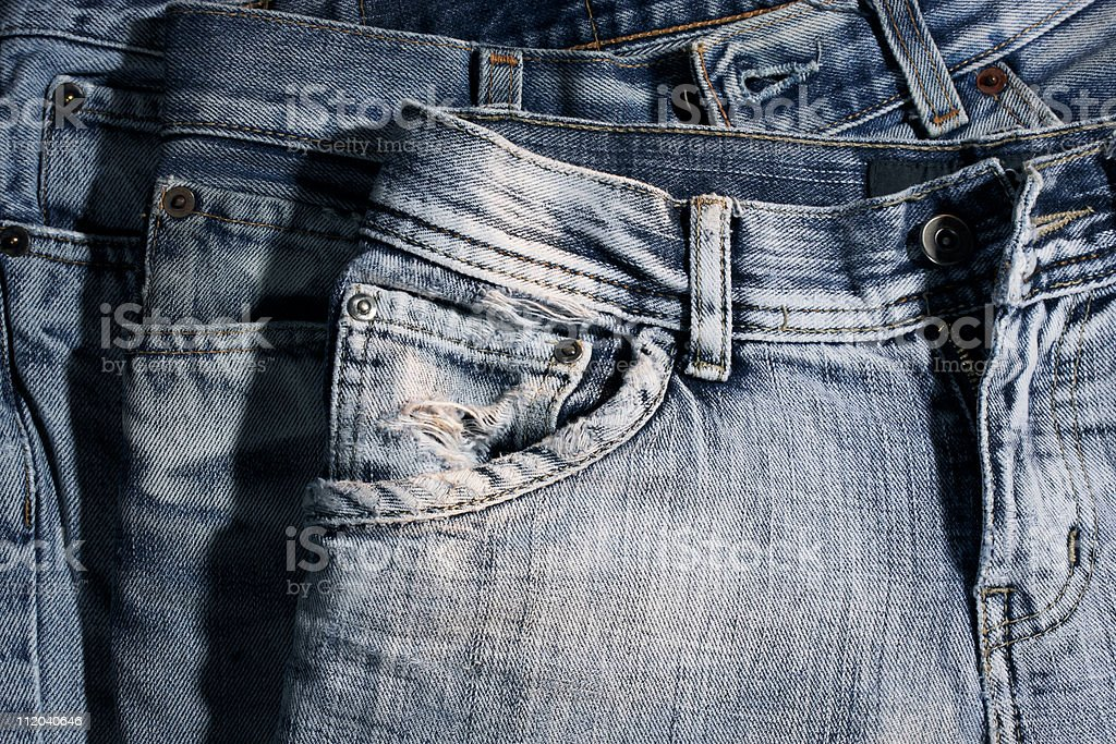 old jeans stock photo