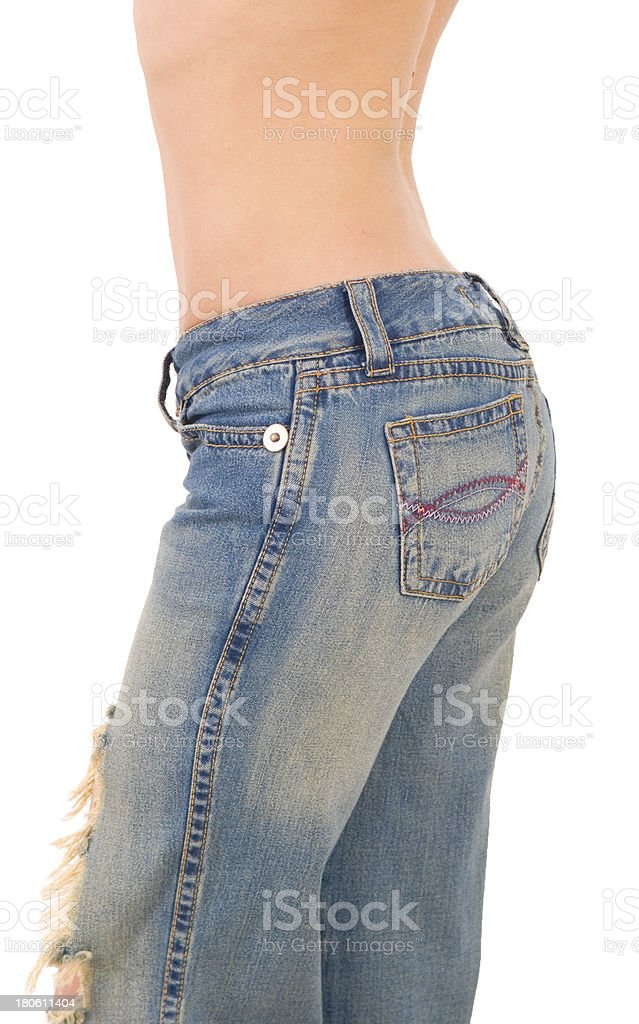 old jeans royalty-free stock photo