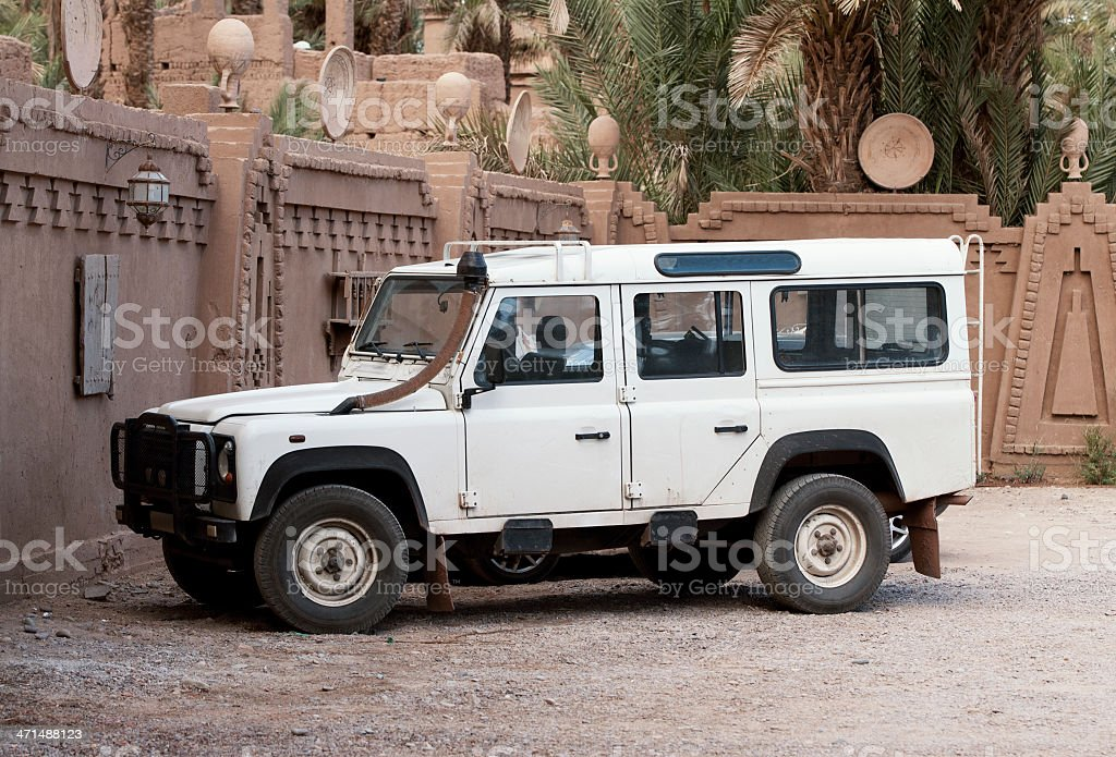 Old jeep in the Ouarzazate Morocco stock photo
