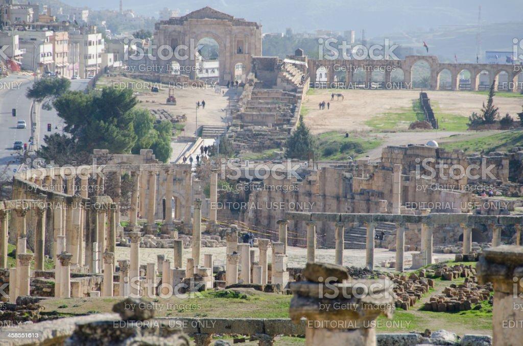 Old Jerash city stock photo