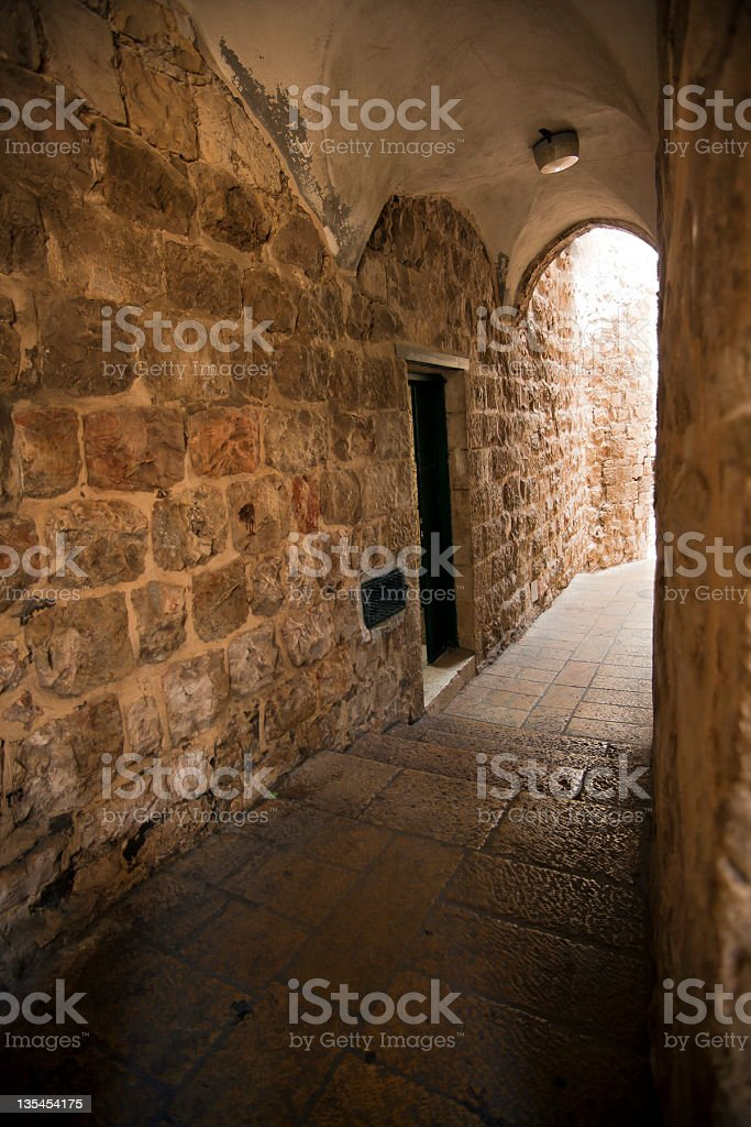Old Jerusalem Alley royalty-free stock photo