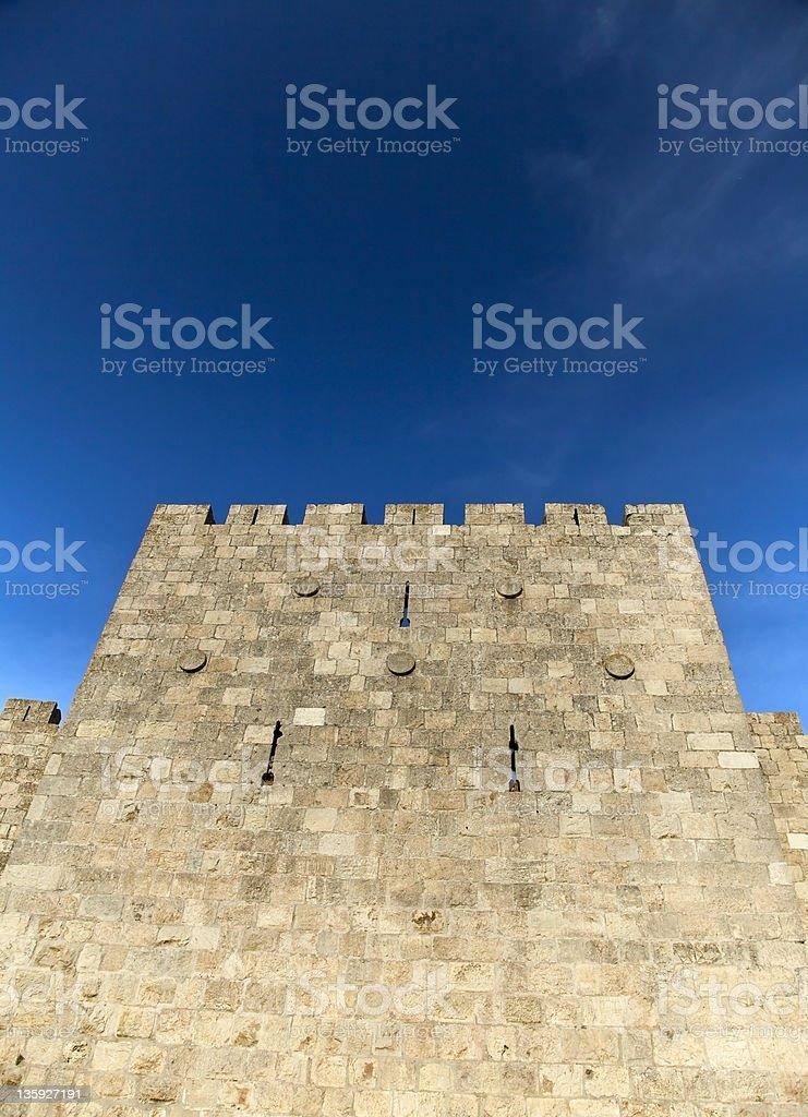 Old Jerusalem City Wall stock photo