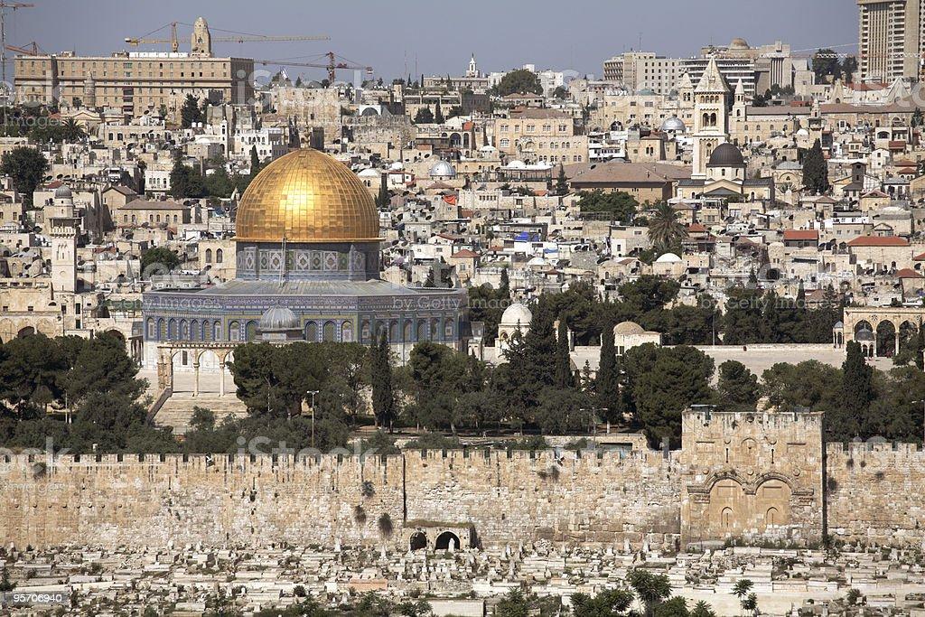Old Jerusalem - Dome of the Rock royalty-free stock photo