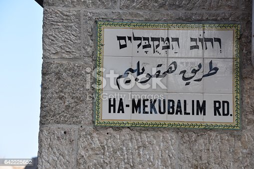 Old Jerusalem - street names
