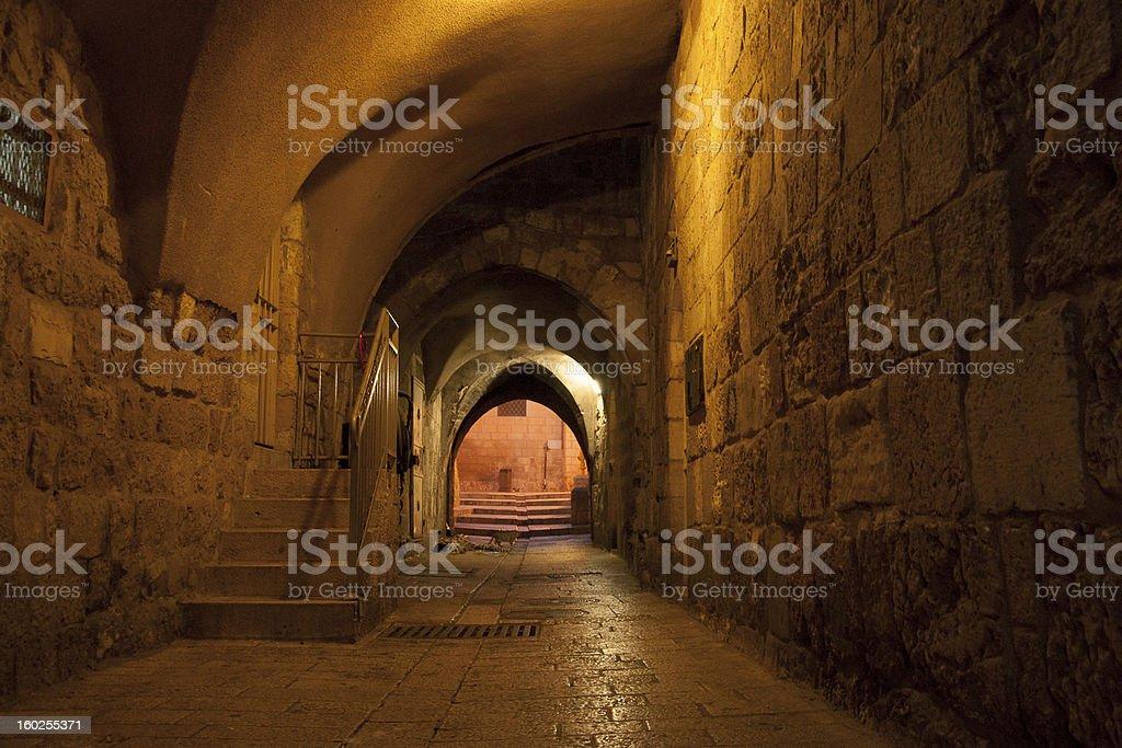 Old jerusalem streets royalty-free stock photo
