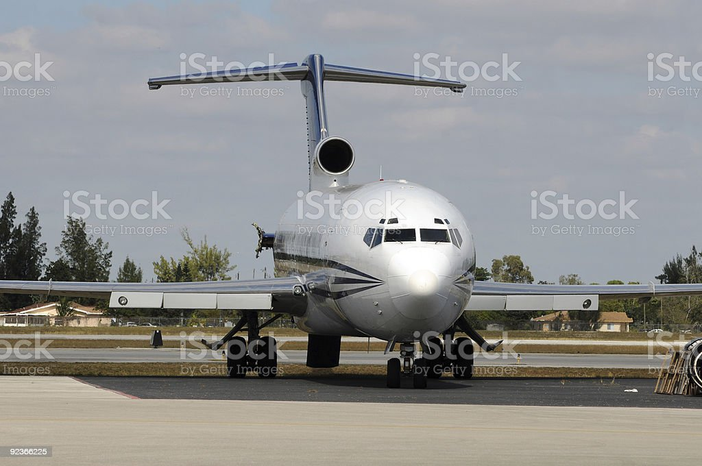 Old jet royalty-free stock photo