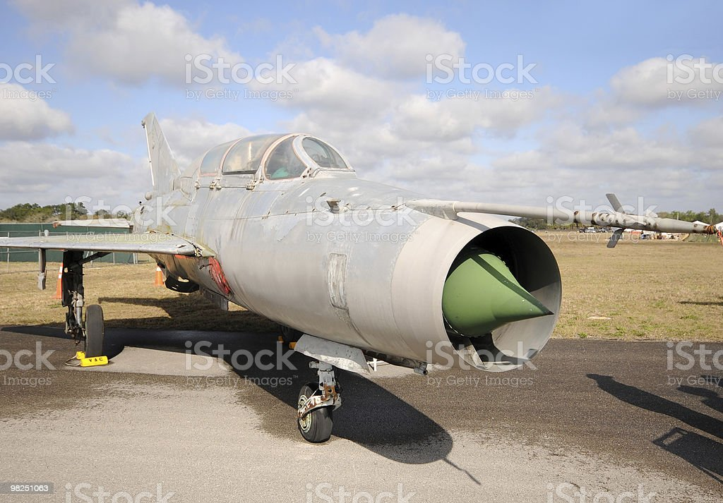 Old jetfighter royalty-free stock photo
