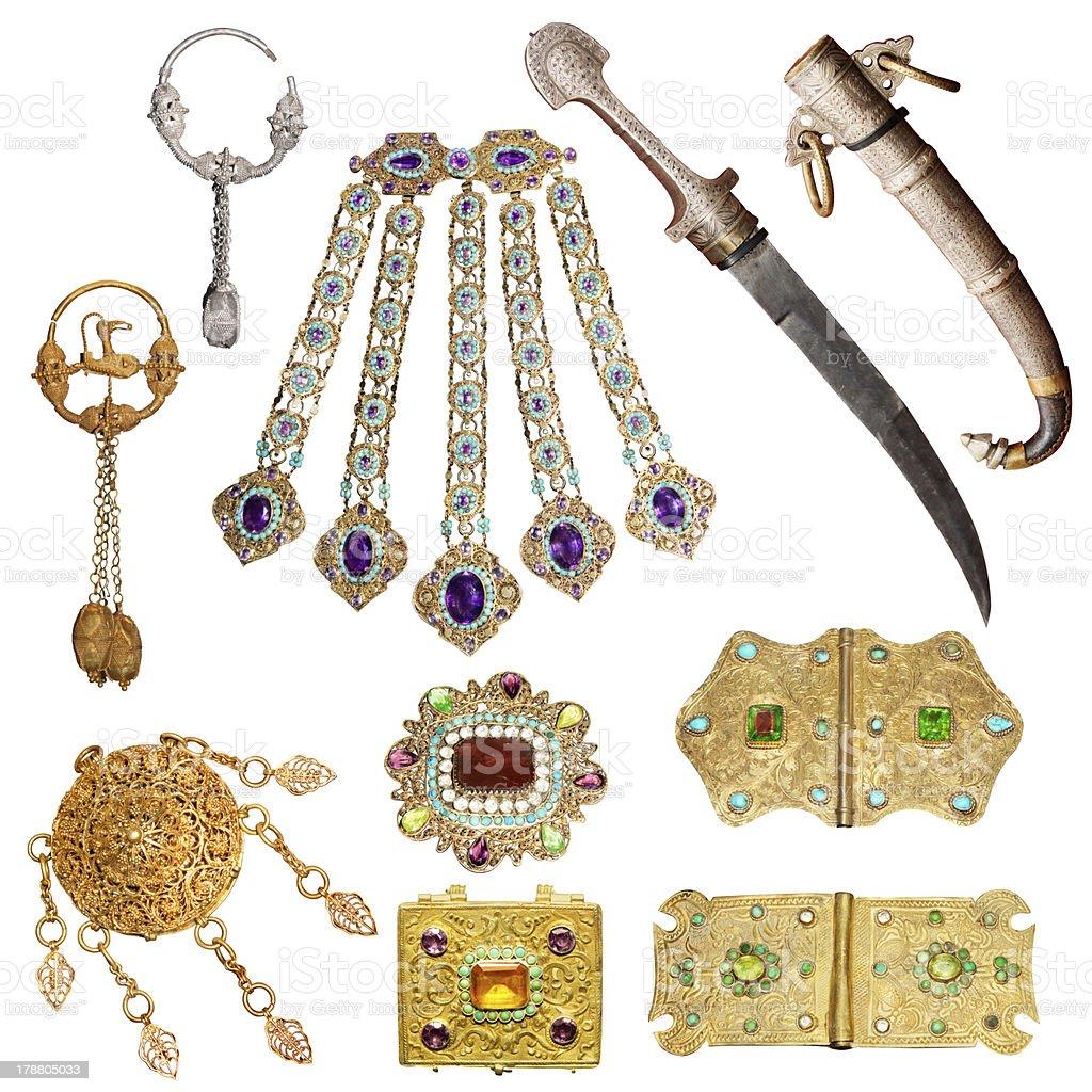 Old jewelery set royalty-free stock photo