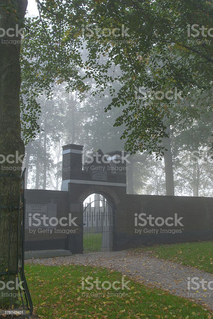 old jewish cemetery at dutch park in Elburg, Netherlands royalty-free stock photo