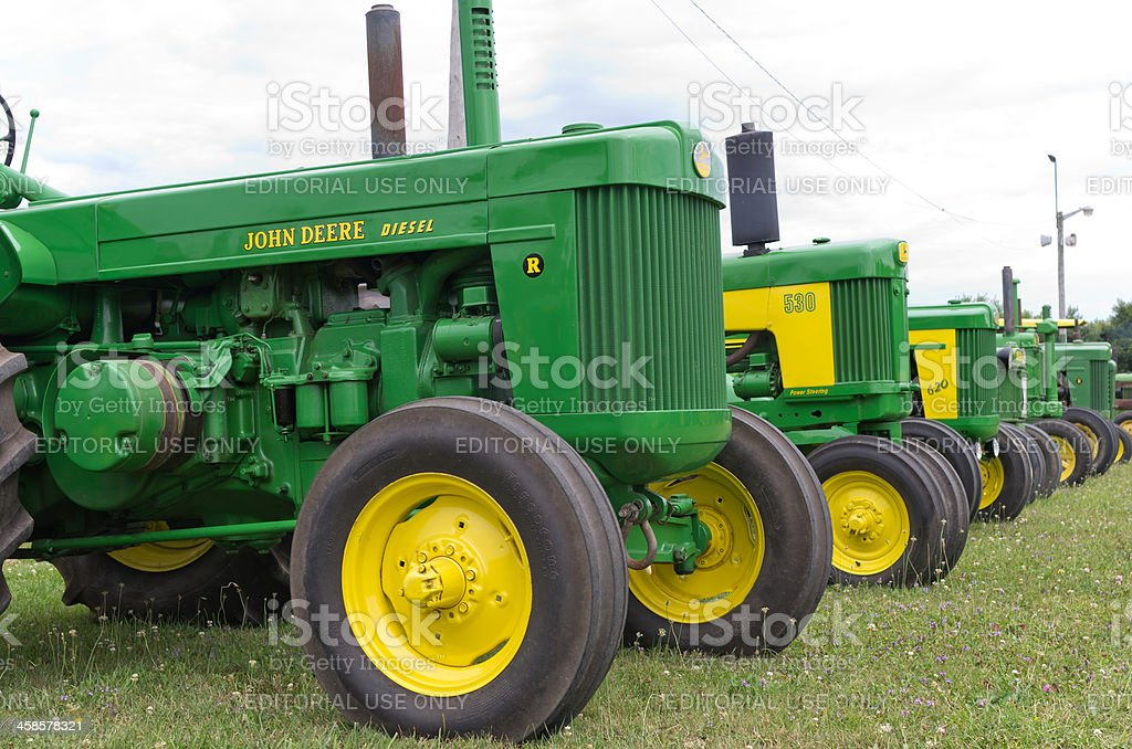 Old John Deere Tractors stock photo