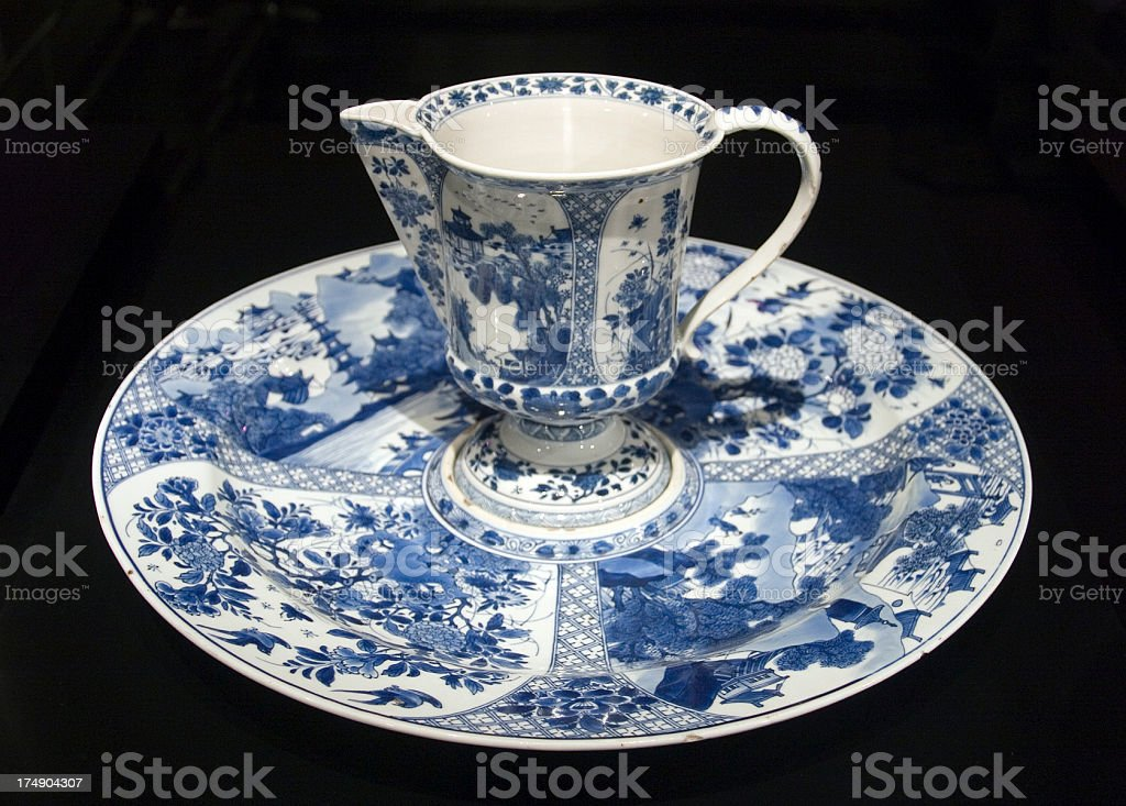 Old jug and saucer stock photo