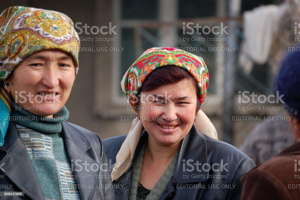 Old kazakh Women stock photo