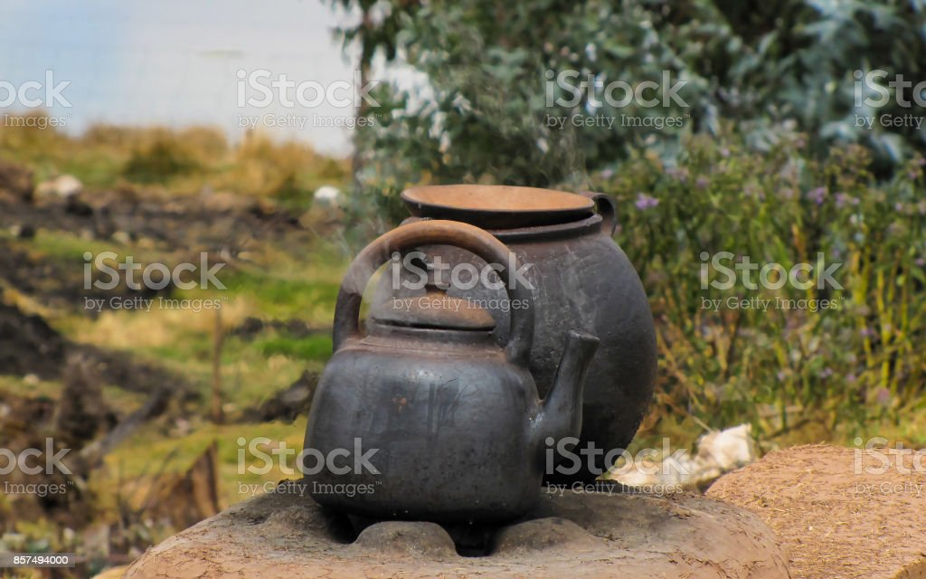 Old kettle stock photo