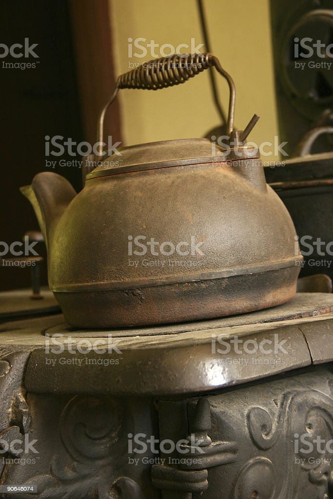 Old kettle royalty-free stock photo