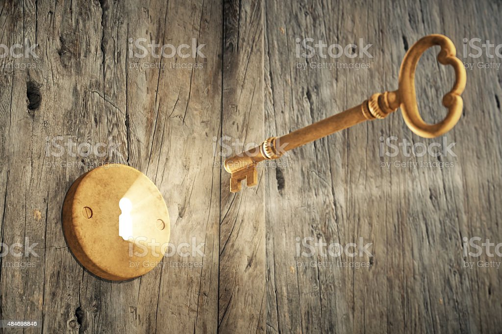 Old Key And Lock stock photo