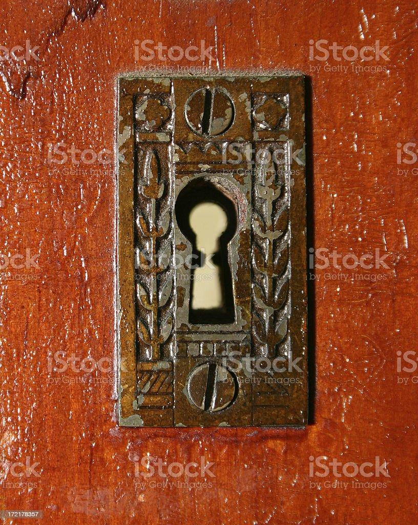 Old Key Hole royalty-free stock photo