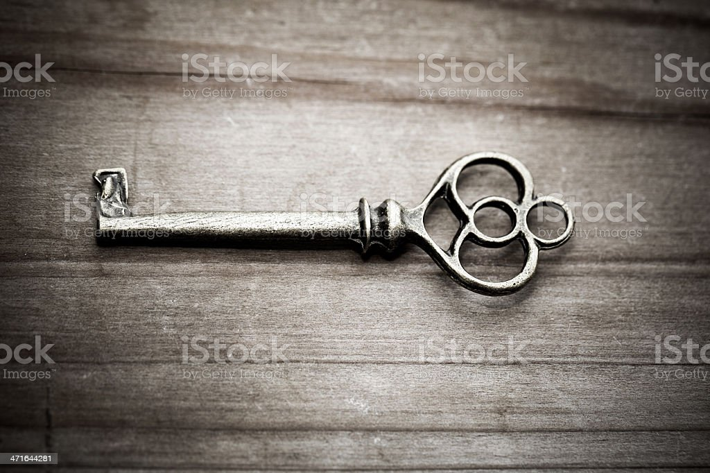 Old key royalty-free stock photo