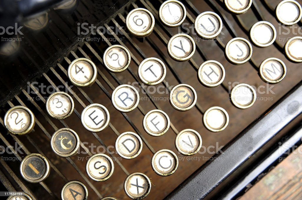 Old keyboard royalty-free stock photo