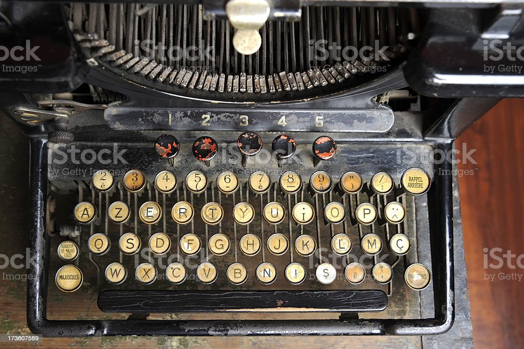 Old keyboard royalty-free stock photo