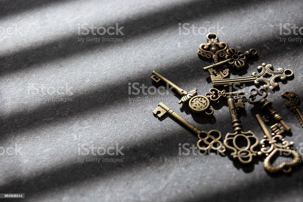 舊鍵背景 - 免版稅保安圖庫照片