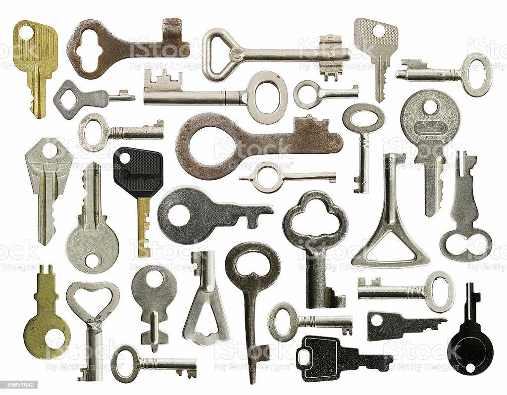 Old keys royalty-free stock photo